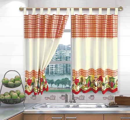 Fabrica de cortinas de tela rashel para cocina textil for Cortinas cocina baratas